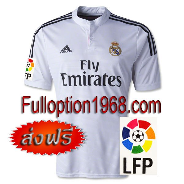 NEW 14-15 Real Madrid Home Big LFP Patch Soccer Football Shirt Jersey
