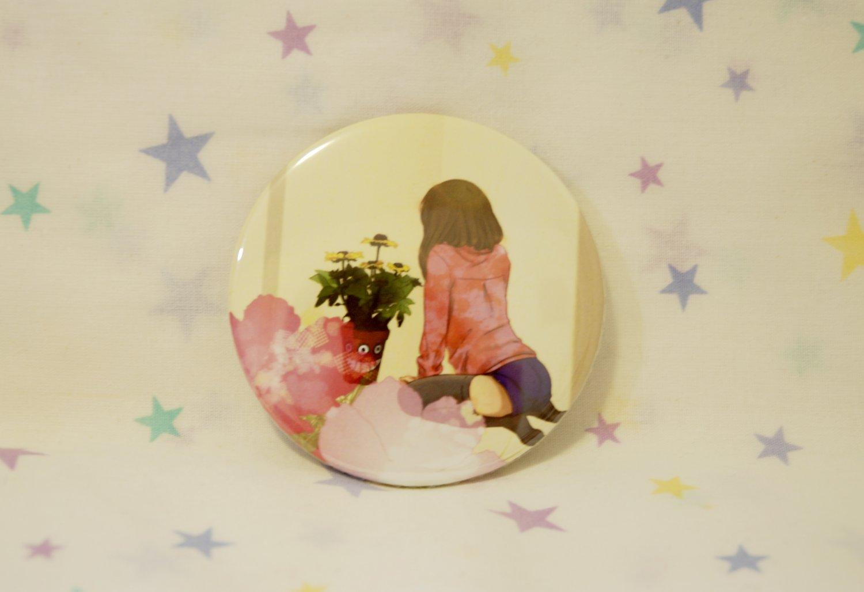 Tin Button (FlowerGirlBack)
