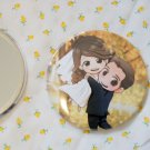 Round hand mirror (Wedding Couple tree)