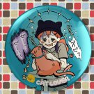 Tin Button (cat lover)