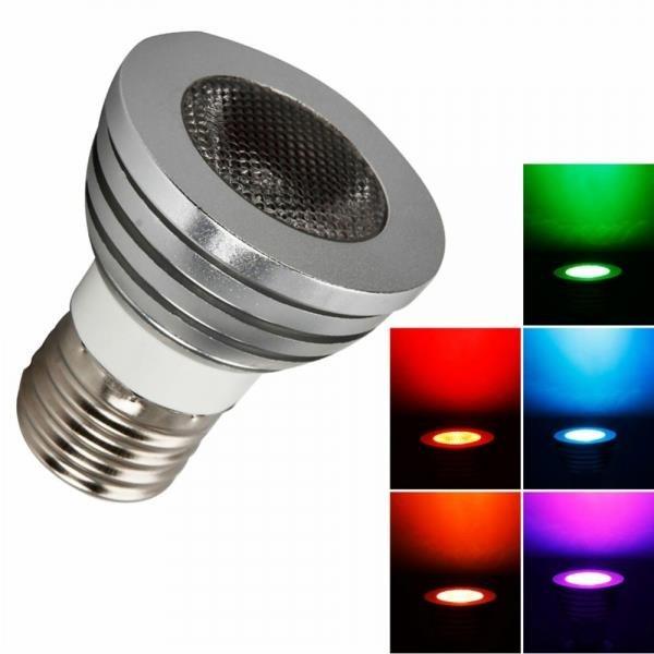 E27 5W 80 Lumen 16 Colors RGB Remote Control Light Bulb (85V-265V)