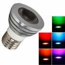 E27 5W 80 Lumen 16 Colors RGB Remote Control Light Bulb (85V-265V)
