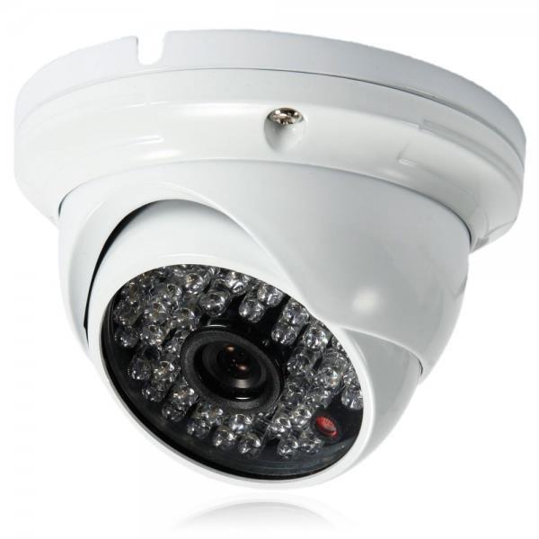"1/4"" CMOS 48LED 1000TVL NTSC 3.6mm Metal Round Plate Surveillance Dome Camera"