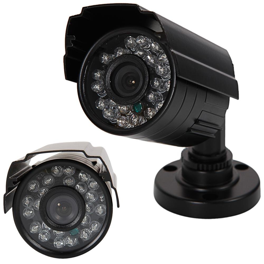 1300TVL NTSC 3.6mm 24-LED IR-CUT Metal Housing Security Camera Black
