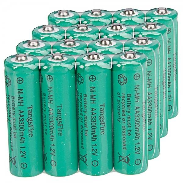4Pcs TangsFire AA 3300mAh 1.2V Rechargeable Ni-MH Battery Green
