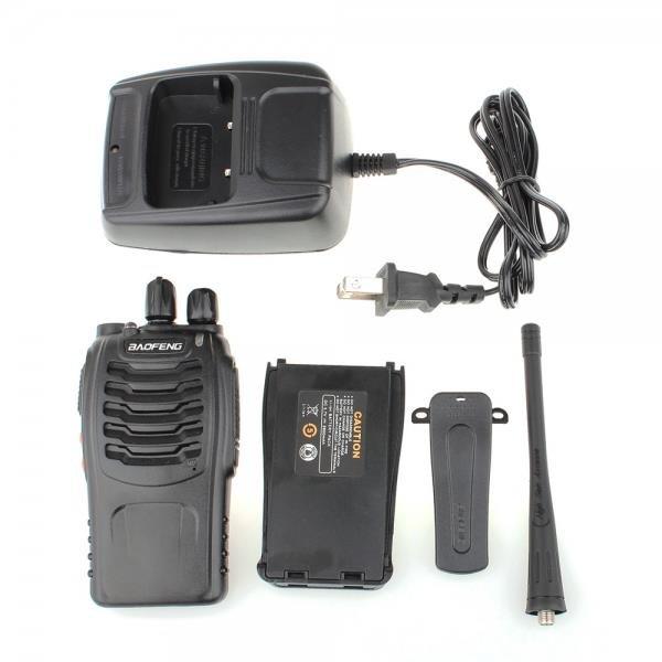 BaoFeng BF-888S 5W 400-470MHz Handheld Walkie Talkie Interphone Black