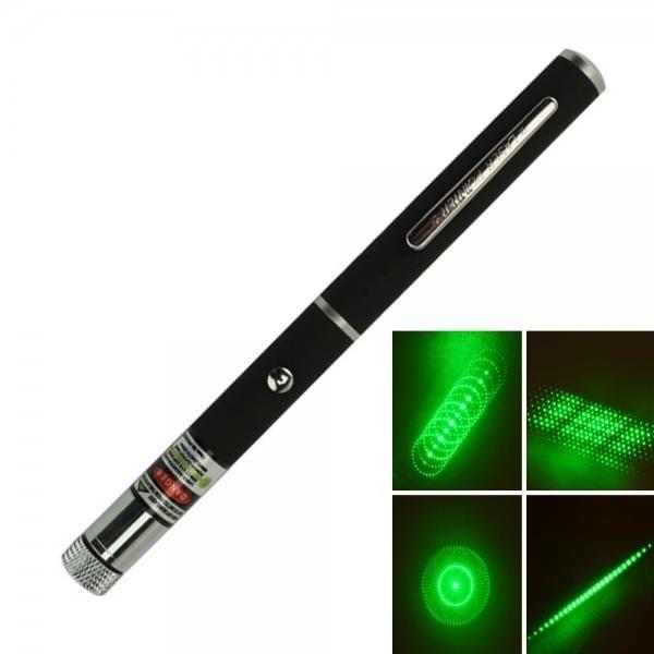5 in 1 5mW 532nm Mid-open Kaleidoscopic Green Laser Pointer Pen
