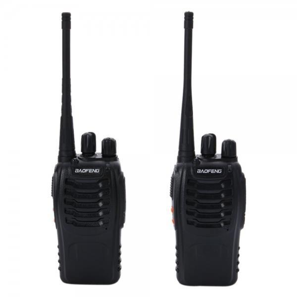 Baofeng BF-888S 5W 400-470MHz Handheld Walkie Talkie Black (2pcs/Pair)