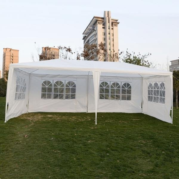 10 x 20 Inch Four Sides Waterproof Foldable Tent White