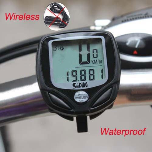 Wireless Bike Computer LED Odometer Speedometer Waterproof Black
