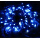 12M 100 LED Blue Light Solar String Lamp Festival Deco