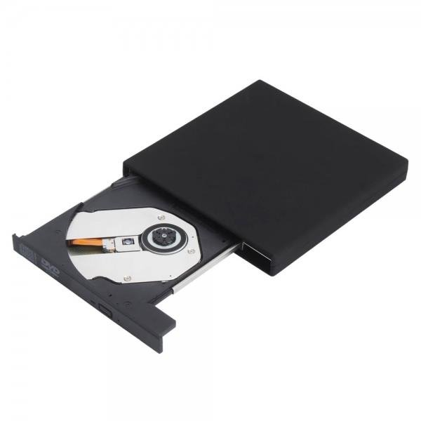 Slim Portable USB 2.0 External Optical DVD CD-RW Burner Writer Drive Black