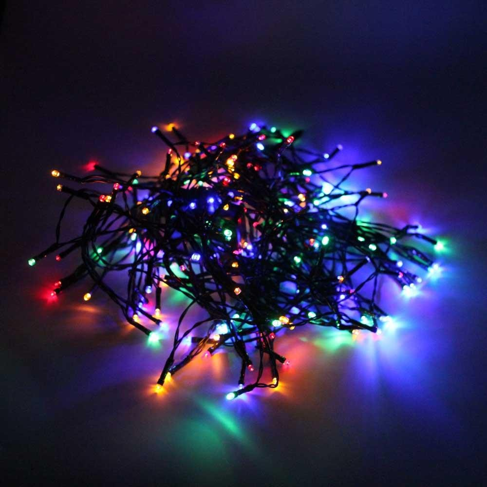 200-LED Colorized Light Outdoor Waterproof Xmas Decoration Solar String Light