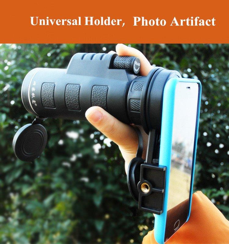 10*40 Hiking Concert Optical Camera Lens Monocular Cellphone Telescope