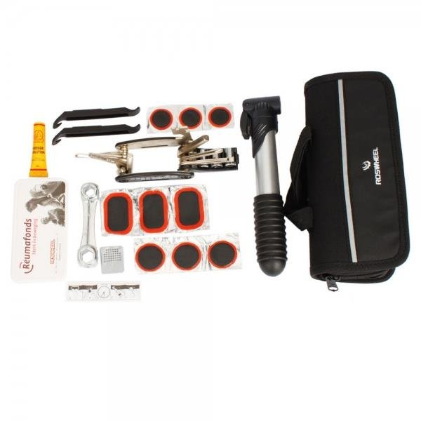 Bike Bicycle Cycling Repair Tools Kit Set With Bag Pump Multifunction