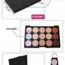 15 Colors Makeup Contour Face Cream Concealer Palette+Sponge Puff+Powder Brush