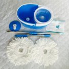 Rotation Mop Bucket Set Cleaning 360 Rotation Easy Wring Reusable Mop Head Blue