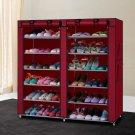 Portable Shoe Rack Shelf Storage Closet Organizer Cabinet 6 Layer 12 Grid