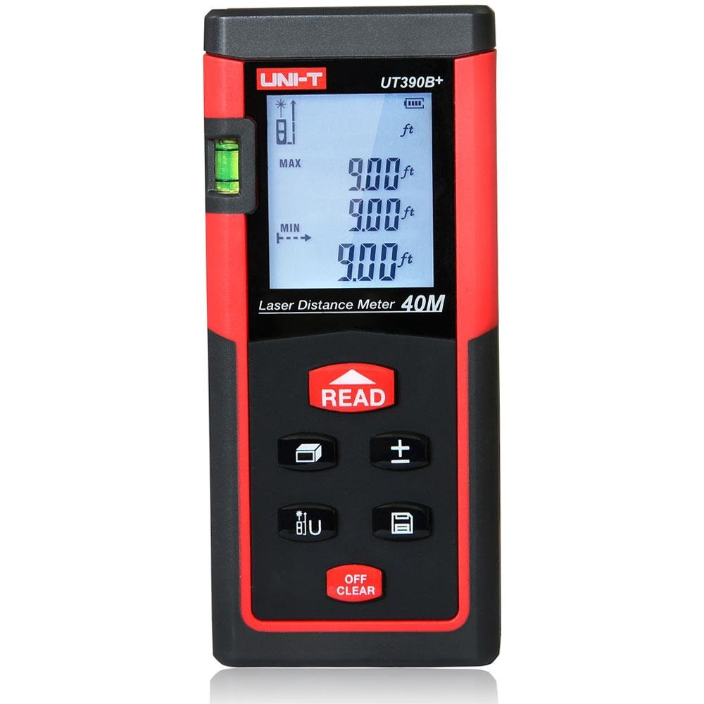 UNI-T UT390B+ Digital Laser Distance Meter 40m/131ft Range Finder Volume Measure