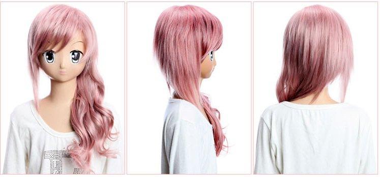 final fantasy XIII Lightning Pink Cosplay Wig