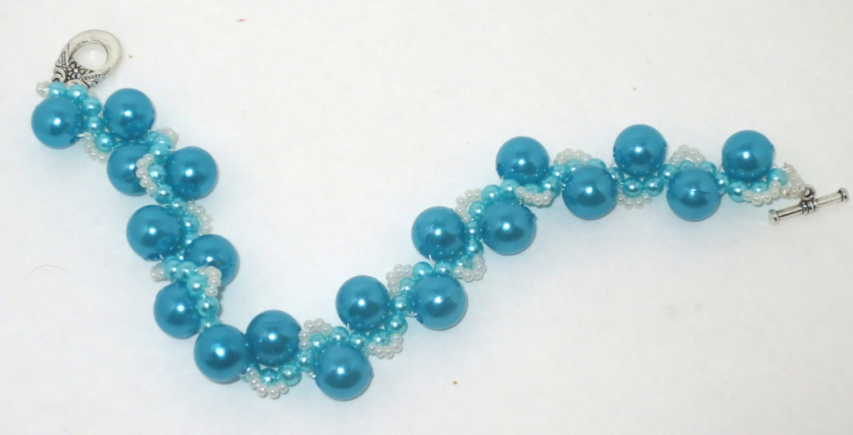 Handmade Teal Bead Bracelet