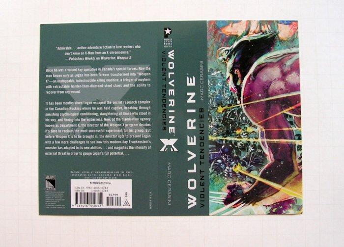 Marc Cerasini - WOLVERINE - Rare Promo Booksleeve