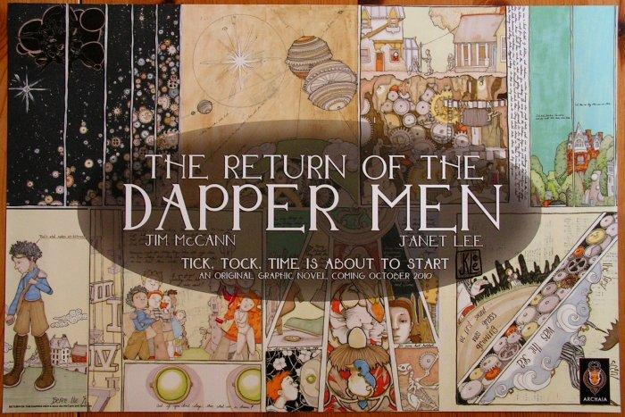 SIGNED Janet Lee - Return of Dapper Men / Mouse Guard Promo Poster - Comic Con 2010