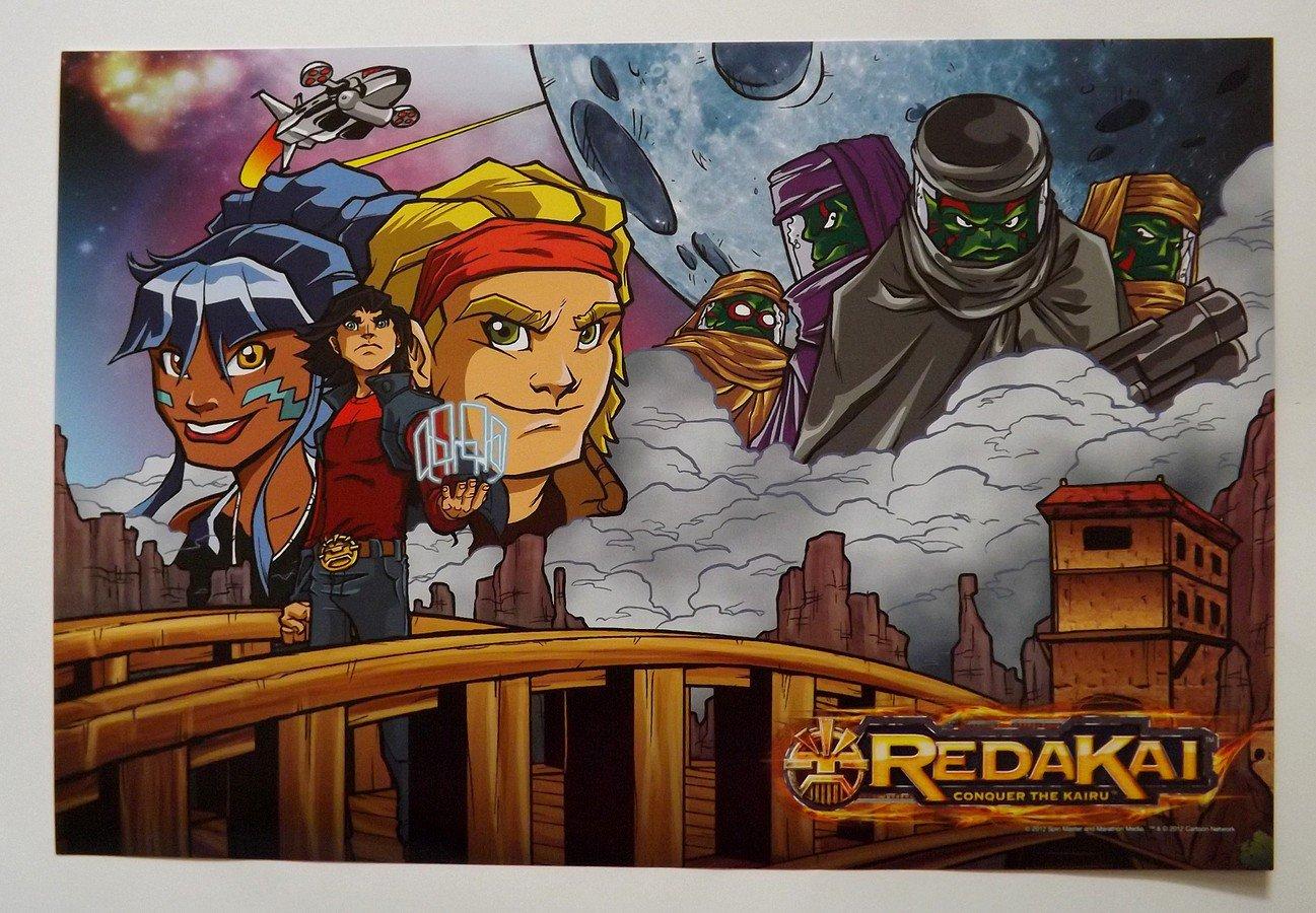 REDAKAI Promo Poster SDCC Comic Con 2012 - Viz Media - VizKids