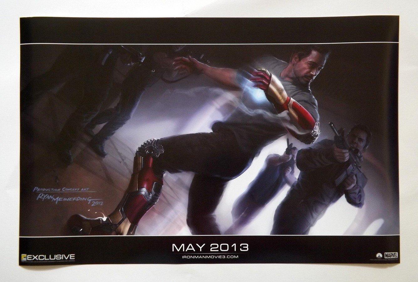 IRON MAN 3 Promo Poster Concept Art - Marvel - SDCC Comic Con 2012