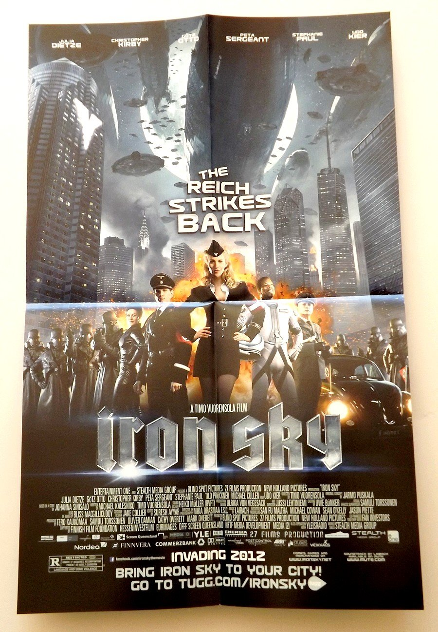 IRON SKY The Reich Strikes Back Exclusive Promo Poster - SDCC 2012 Comic Con