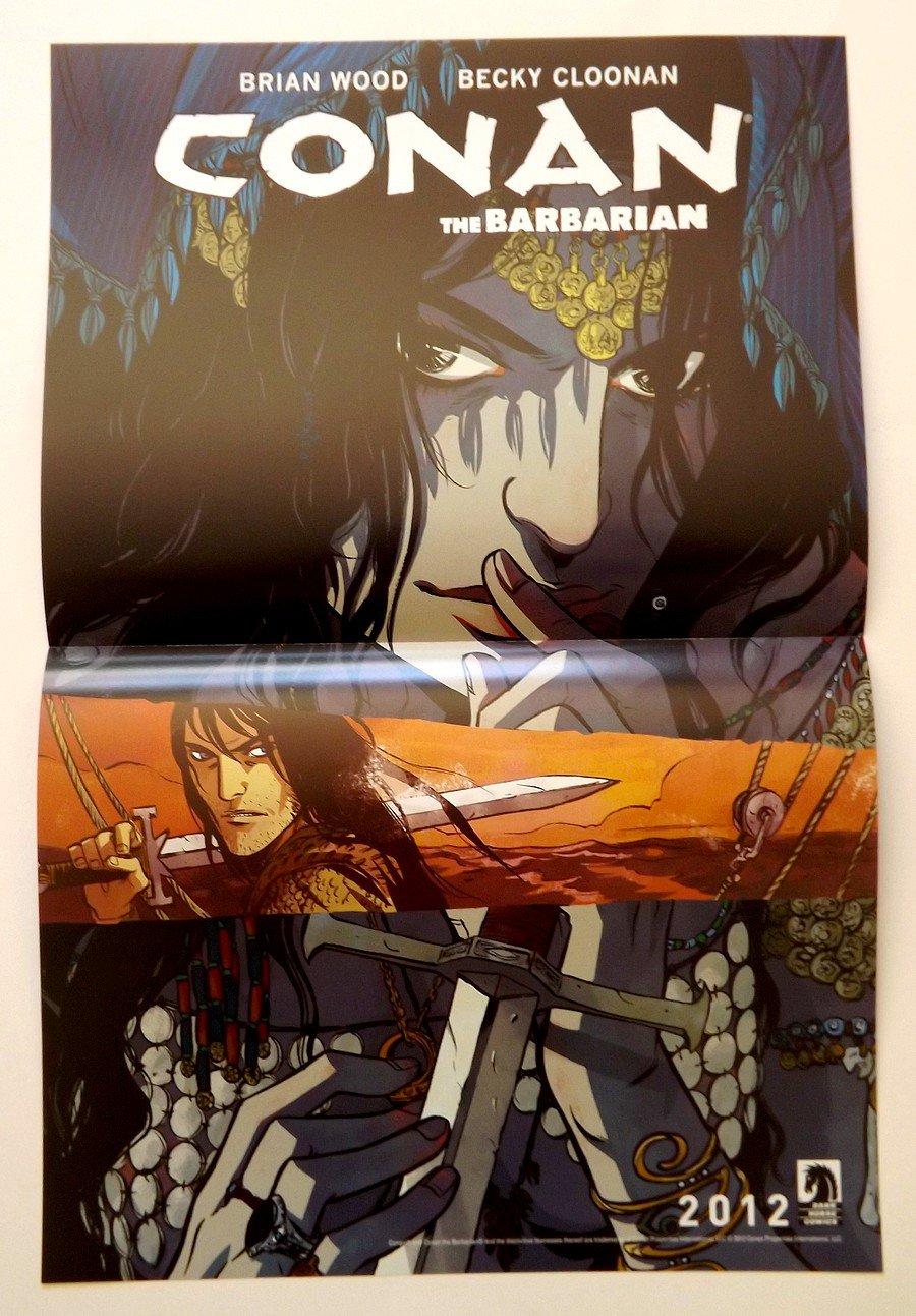 CONAN / THE MASSIVE DS Promo Poster - Dark Horse Comics SDCC Comic Con 2012