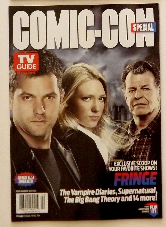 FRINGE - TV GUIDE Promo Magazine DS Flip Cover -2012 SDCC Comic Con -Final Season