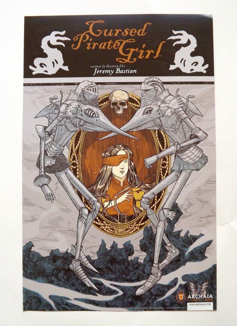 CURSED PIRATE GIRL / DAPPER MEN-DS Promo Poster -SDCC 2012 Comic Con -Archaia