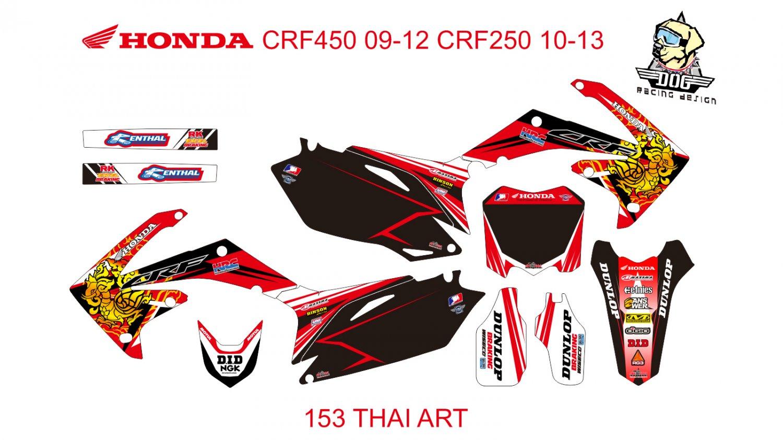 HONDA CRF250 2010-2013 CRF450 2009-2012 GRAPHIC DECAL KIT CODE.153