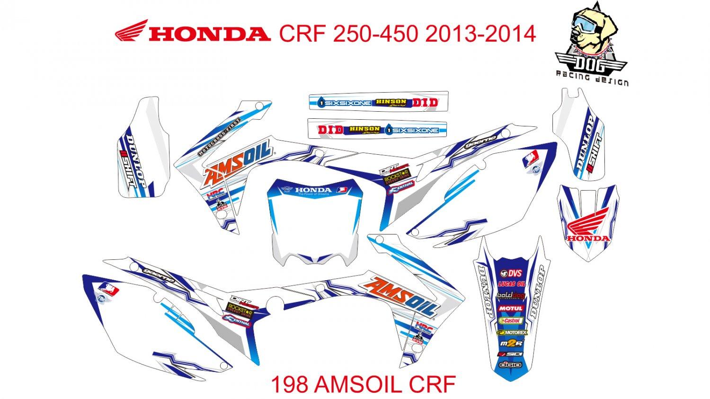 HONDA CRF 250-450 2013-2014 GRAPHIC DECAL KIT CODE.198