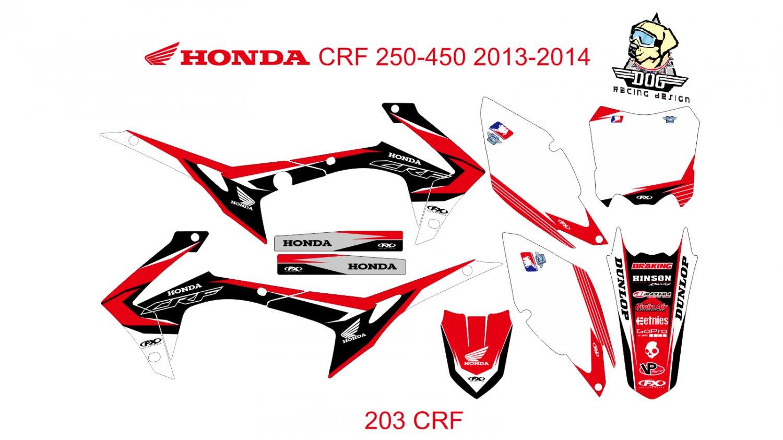 HONDA CRF 250-450 2013-2014 GRAPHIC DECAL KIT CODE.203