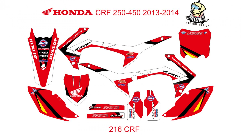 HONDA CRF 250-450 2013-2014 GRAPHIC DECAL KIT CODE.216