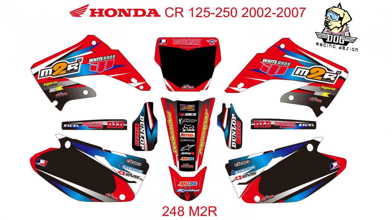 HONDA CR 125-250 2002-2007 GRAPHIC DECAL KIT CODE.248