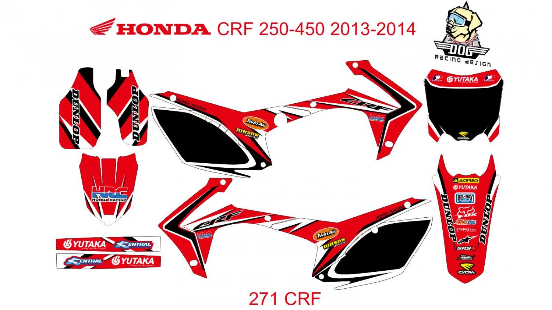 HONDA CRF 250-450 2013-2014 GRAPHIC DECAL KIT CODE.271
