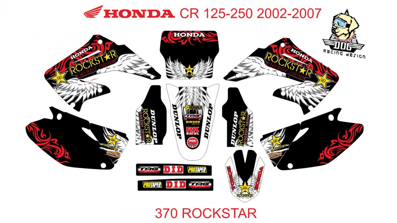 HONDA CR 125-250 2002-2007 GRAPHIC DECAL KIT CODE.370