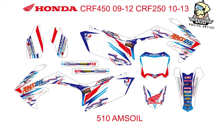 HONDA CRF 250 2010-2013 CRF 450 2009-2012 GRAPHIC DECAL KIT CODE.510