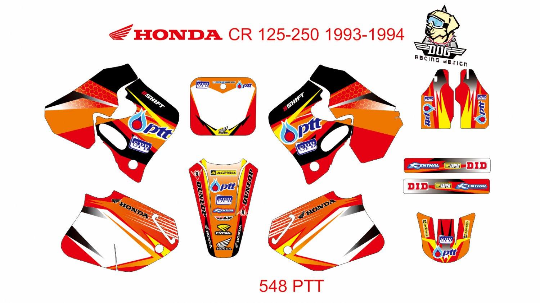 HONDA CR 125-250 1993-1994 GRAPHIC DECAL KIT CODE.548