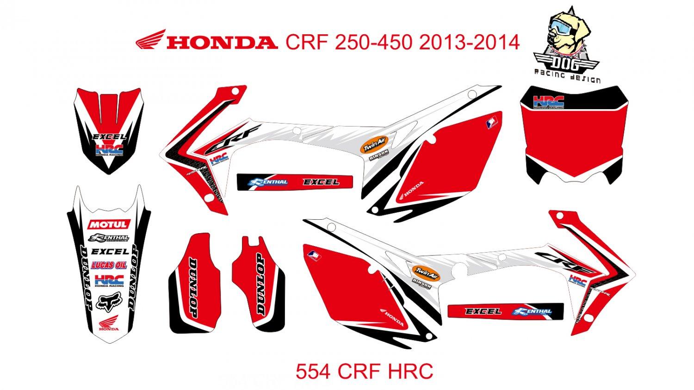 HONDA CRF 250-450 2013-2014 GRAPHIC DECAL KIT CODE.554
