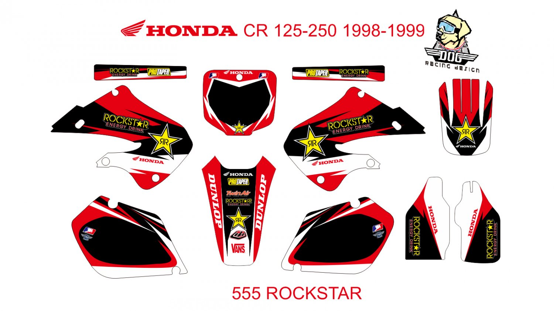 HONDA CR 125-250 1998-1999 GRAPHIC DECAL KIT CODE.555