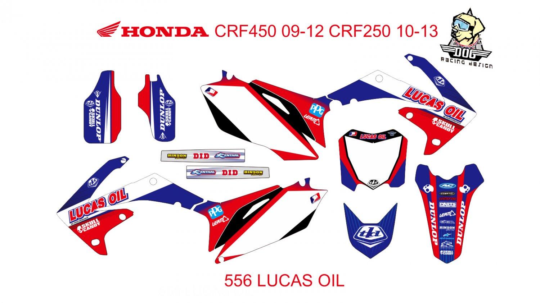 HONDA CRF 250 2010-2013 CRF 450 2009-2012 GRAPHIC DECAL KIT CODE.556