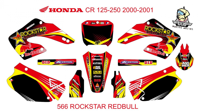 HONDA CR 125-250 2000-2001 GRAPHIC DECAL KIT CODE.566
