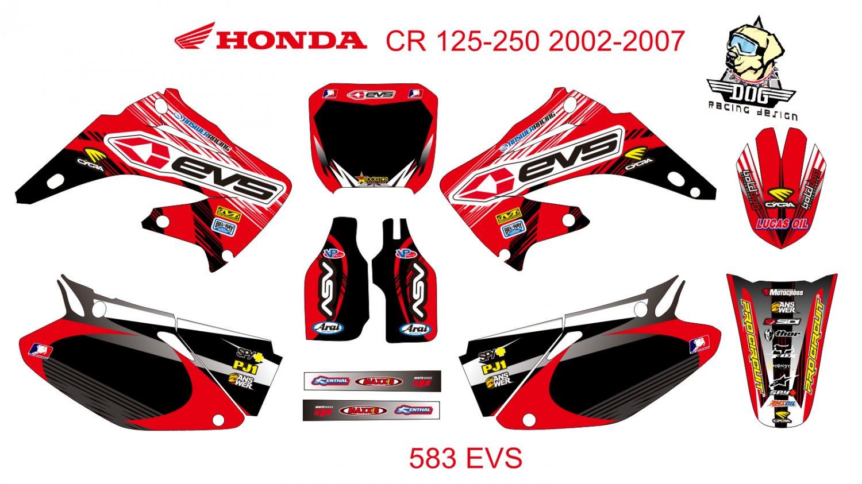HONDA CR 125-250 2002-2007 GRAPHIC DECAL KIT CODE.583