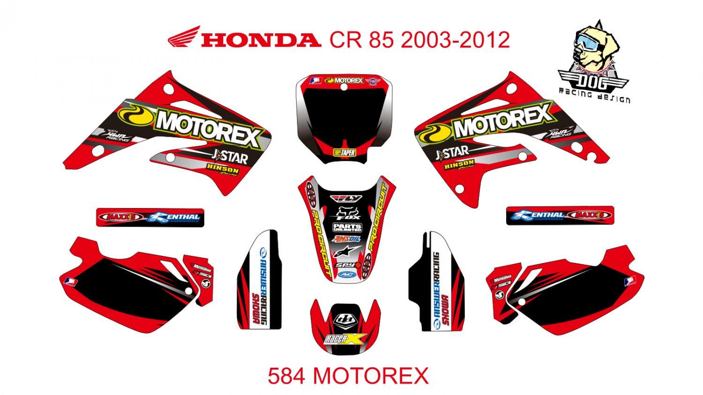 HONDA CR 85 2003-2012 GRAPHIC DECAL KIT CODE.584