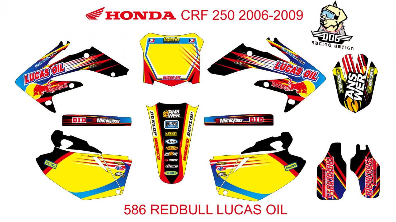 HONDA CRF 250 2006-2009 GRAPHIC DECAL KIT CODE.586