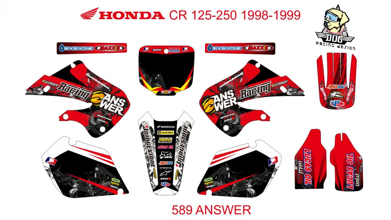 HONDA CR 125-250 1998-1999 GRAPHIC DECAL KIT CODE.589